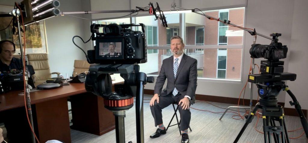 Testimonial Video setup photo